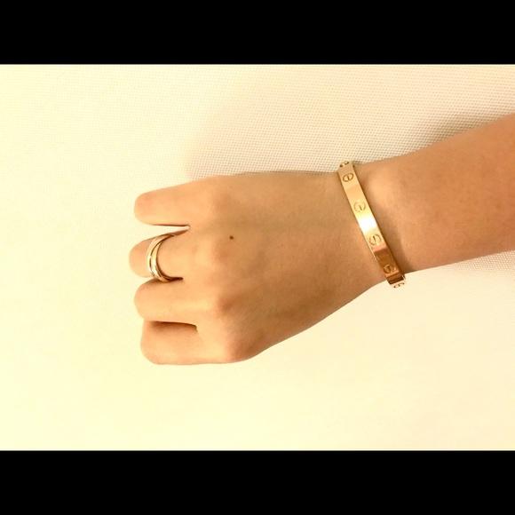 Cartier rose gold love bracelet 16
